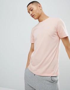 Розовая футболка с круглым вырезом и логотипом Abercrombie & Fitch - Розовый