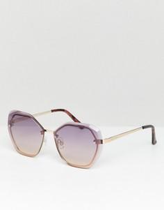 Сиреневые солнцезащитные очки River Island - Золотой