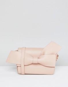 Клатч с бантом Melie Bianco - Розовый