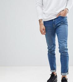 Выбеленные зауженные джинсы Brooklyn Supply Co Contrast - Синий