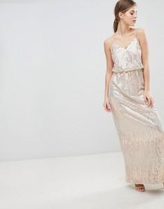 Платье макси с пайетками Little Mistress - Розовый