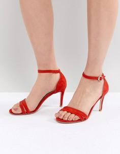 Замшевые босоножки на каблуке Suncoo - Красный
