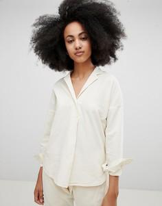 Рубашка из органического хлопка и конопли Seeker - Кремовый