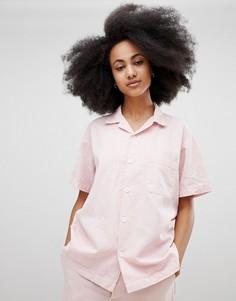 Рубашка из органического хлопка и конопли Seeker - Розовый