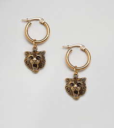 Серьги-кольца с позолотой 18 кт Regal Rose - Золотой