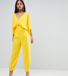 Комбинезон с рукавами-кимоно и широкими брюками ASOS DESIGN Tall - Желтый