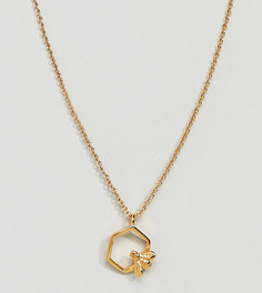 Позолоченное ожерелье с сотой и пчелой Bill Skinner - Золотой