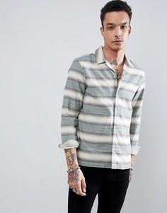 Рубашка в полоску с длинными рукавами AllSaints - Зеленый