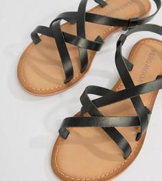 Кожаные сандалии Vero Moda - Черный