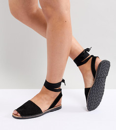Замшевые сандалии с завязками Park Lane - Черный