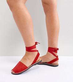 Замшевые сандалии с завязками Park Lane - Красный