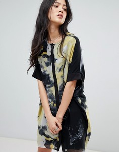 Платье-рубашка с принтом Religion - Темно-синий