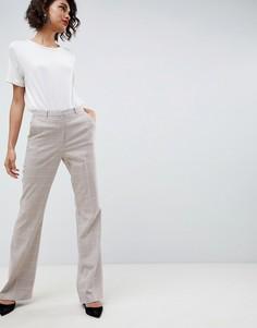 Узкие брюки в клетку с клешем ASOS DESIGN - Мульти