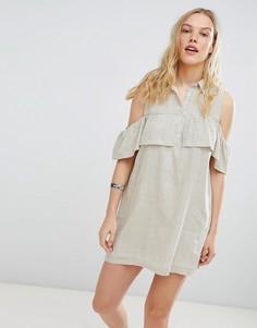 Платье-рубашка в полоску Deby Debo Jinette - Кремовый