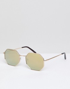 Солнцезащитные очки в стиле ретро Quay Australia On A Dime - Золотой