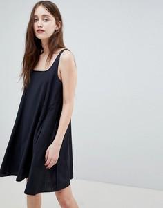 Платье-комбинация в полоску Wood Wood Jojo - Синий
