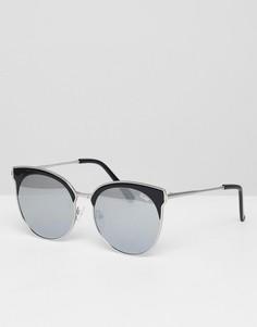 Круглые солнцезащитные очки Quay Australia Miabella - Черный