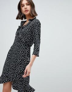 Платье с запахом и принтом Vero Moda - Мульти
