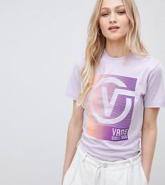 Эксклюзивная сиреневая oversize-футболка Vans - Розовый