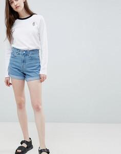 Винтажные джинсовые шорты с завышенной талией Waven Inga - Синий