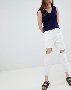 Рваные джинсы бойфренда Waven Aki - Белый