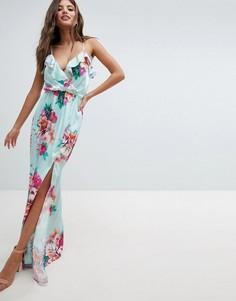 Платье макси с цветочным принтом Jessica Wright - Синий