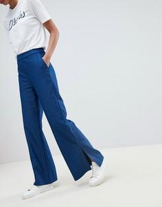 Широкие брюки в полоску Vila - Темно-синий