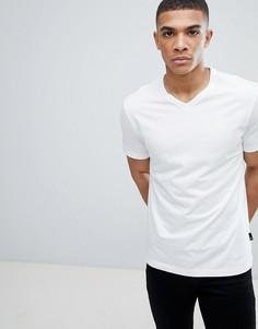 Белая футболка с V-образным вырезом Burton Menswear - Белый