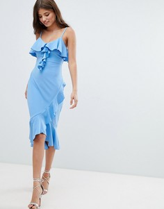 Платье миди с оборками Jessica Wright - Синий