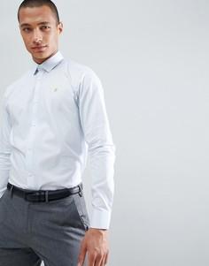 Приталенная рубашка с длинными рукавами Farah - Синий