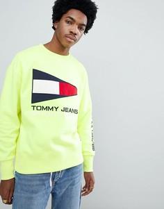 Желтый свитшот в стиле 90-х с круглым вырезом и логотипом Tommy Jeans Sailing Capsule - Желтый