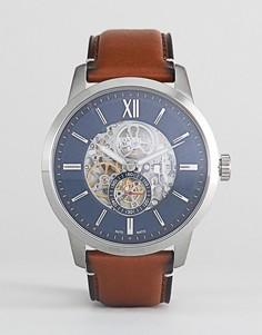Часы с кожаным ремешком Fossil ME3154 Townsman - Коричневый