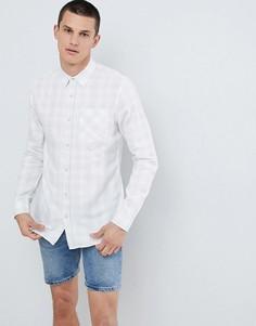 Белая рубашка классического кроя в клетку New Look - Белый
