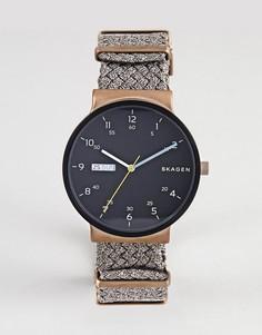Часы с парусиновым ремешком Skagen SKW6453 - Коричневый