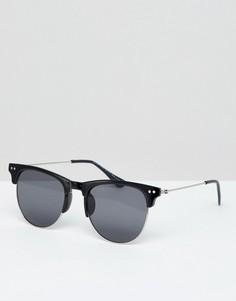 Черные солнцезащитные очки в стиле ретро 7x - Черный