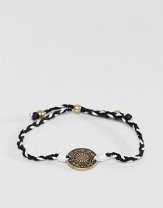 Черно-белый браслет с подвеской Icon Brand - Мульти