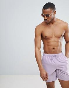 Фиолетовые шорты для плавания средней длины ASOS DESIGN - Фиолетовый