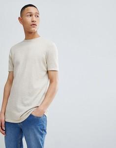 Вязаная футболка ASOS DESIGN - Бежевый