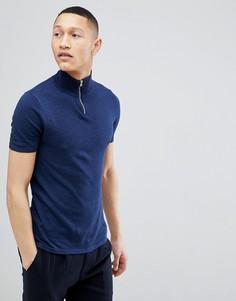 Темно-синяя обтягивающая футболка ASOS DESIGN - Темно-синий