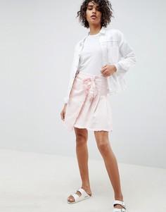 Мини-юбка с завязкой Waven Tilda - Розовый