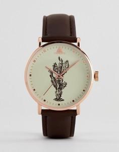 Часы с кактусом ASOS DESIGN - Коричневый