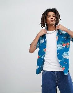 Рубашка с цветочным принтом Brixton Bueller - Синий