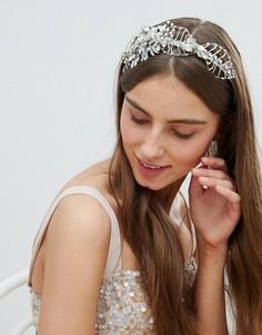 Украшение для волос с цветами Stone & Rose - Серебряный