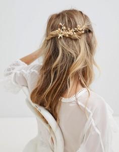 Заколка для волос с жемчугом Stone & Rose - Золотой