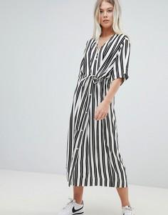Платье-рубашка в полоску Weekday - Мульти