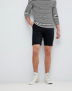Черные шорты чиносы New Look - Черный