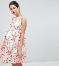 Жаккардовое платье с принтом Chi Chi London Maternity - Мульти