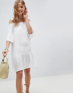 Белое пляжное платье с открытыми плечами MW by Matthew Williamson - Белый