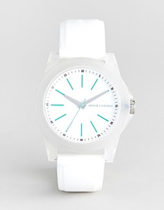 Часы с силиконовым ремешком Armani Exchange AX4359 Banks - Белый