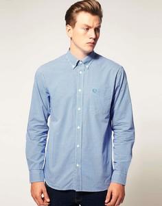 Рубашка в клетку с длинными рукавами Fred Perry - Синий